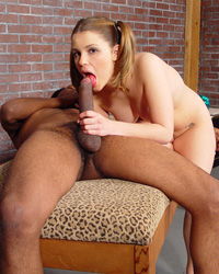 Sucking Charlies Dark-skinned Monster Cock