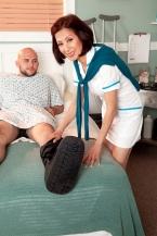 Nurse Kim heals the sick, copulates the astronomical hard-on