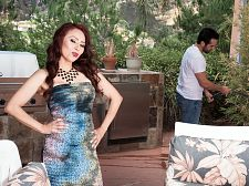 Red-hot MILF Claudia receives ass-fucked by the gardener